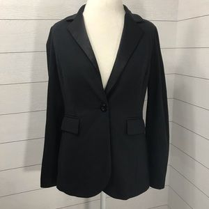 CAbi Tuxedo Semi-Fitted Black Blazer Size Medium